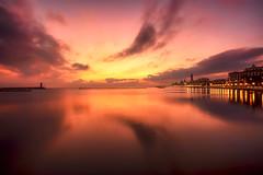 In the silence ... (Gio_guarda_le_stelle) Tags: sunrise harbor bari peaceful quiete colors quiet attimo