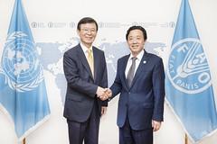 12189s002 (FAO News) Tags: rome italy faodirectorgeneral bilateralmeeting republicofkorea