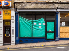 Bradford 015 (Peter.Bartlett) Tags: colour peterbartlett doubleyellowlines urban shopfront window uk m43 microfourthirds shopwindow facade olympuspenf sign city westyorkshire door bradford england unitedkingdom