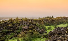 Green earth crevice (Zoom58.9) Tags: sky rocks grasses green landscape nature outside europe iceland sony sonydscrx10m4