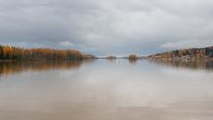 Ruska wallapaper (JarkkoS) Tags: 2470mmf28eedafsvr 5120x2880 5k boat boating d850 finland porvoo reflection river ruska uusimaa wallpaper water