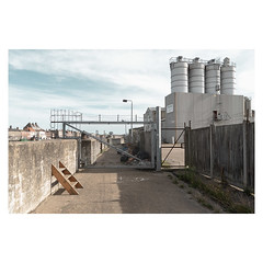 Pasta Foods (John Pettigrew) Tags: lines tamron d750 nikon industrial gates barriers mundane shadows imanoot banal topographics ordinary documentary yarmouth deserted steps silos great johnpettigrew angles