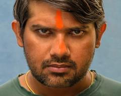 IN YOUR FACE! (Bhuvan N) Tags: 52frames portrait portraits people selfportrait selfie orange headshot headshots closeup blue nikkor 50mm colors colours