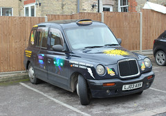 Taxi to the Sun ! (AndrewHA's) Tags: hertfordshire bishopsstortford car london taxi lti londontaxisinternational lj03axh sun believable courtesy vehicle