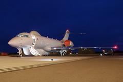 ZJ691 (Ian.Older) Tags: zj691 royalairforce sentinel raytheon raf waddington istar reconassaince aircraft electronic combat aviation acpv 5sqn blue hour nightshoot