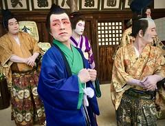 Kabuki artists in Kompira Oshibai (DanÅke Carlsson) Tags: group stage traditional theatre people artists kabuki japanese japan