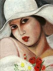 tamara cappello bianco