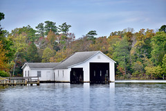 Large Boathouse (donnacurrall) Tags: boathouse robinsoncreek middlesexcounty virginia autumn trees creek
