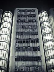 (a.pierre4840) Tags: olympus omd em10 micro43 cmount schneider kreuznach xenon 25mm f095 nightshot monochrome artfilter luminar3 architecture urban decay kowloon hongkong wall walls industrial building commercialbuilding