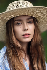 Sonya (max_livingloud) Tags: portrait mood headshot hat summer emotive lips eyes color 85mm nikon tamron atmosphere