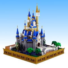 Cinderella Castle (Swan Dutchman) Tags: lego dinsey waltdisney disneyland cinderella castle cinderellacastle themepark magickingdom waltdisneyworld tokyo florida fantasyland palace micro mini