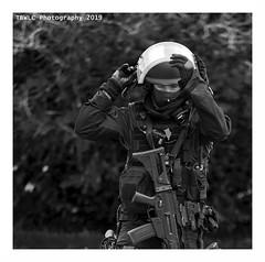 """""""Un Jour Au RAiD... Servir Sans Faillir 5"""" (TBWLC Photography) Tags: fdrouet tbwlc raid police portrait retrato nikon d610 nb bw monochrome"""