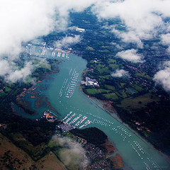 River Hamble (amazingstoker) Tags: bursledon marina river hamble southampton including rather nice jolly sailor pub ariel image flight window seat sou ams be1015 flybe yacht moored hampshire