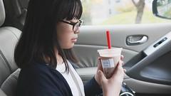 SAKURAKO - BleuPaon BAKESHOP (MIKI Yoshihito. (#mikiyoshihito)) Tags: sakurako 櫻子 さくらこ 娘 daughter サクラコ 長女 11歳 eldestdaughter bleupaon bakeshop bleupaonbakeshop ブルーパン 札幌 カフェ cafe murano nissanmurano ムラーノ nissan suv 日産 4x4 awd 4wd タピオカ ブルーパンベイクショップ