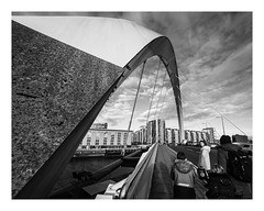 What you looking at? (burnsmeisterj) Tags: olympus omd em1 glasgow street photography monochrome blackandwhite bridge clyde squinty