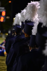 Taking the field (loufsmith) Tags: band blue marchingband montevallo montevalloalabama montevalloal plume