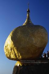 Kyaiktiyo, the golden rock (blauepics) Tags: myanmar birma burma southeast asia südostasien 1996 kyaiktiyo kyaiktio mountains berge evening sun abendsonne pagoda pagode golden rock goldener fels gold sacred heilig religious religiös