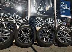 X_2224 (Menny Borovski) Tags: sunsetpark brooklyn newyork hubcap carwheel carwheels tire tires rubbertire