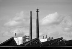 Pipes (peer.heesterbeek) Tags: industry pipes blackwhite monochrome eindhoven netherlands buildings clouds