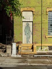 The Lizzard Man Lives At 212 (J Wells S) Tags: lizzardman steps door window bricks streetart urban urbanstreetart urbandecay overtherhine otr cincinnati ohio blinkcincinnati