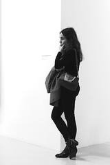 The tired woman (pascalcolin1) Tags: paris femme woman fatiguée tired mur wall blanc white photoderue streetview urbanarte noiretblanc blackandwhite photopascalcolin 50mm canon50mm canon