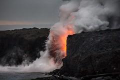 Spatter (Rising Tide Images) Tags: hawaii volcano lava lavaflow pele kilauea spatter puuoo eruption oceanentry kamokuna steamcloud volcanicspatter risingtideimages creation
