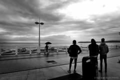 Rainy Day-BP82649bw (Rob Blok / BLOK PHOTO) Tags: spain travel beach rain nikon fx 24mm blackandwhite blokphoto robblokphotography robblokfotografie