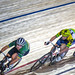 Mark Cavendish and Zac Gilmore. Points race