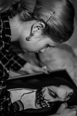 My love drawing my hotoke ~ (mickael-demir) Tags: love gf girl girlfriend drawing art kyo hotoke sama black white blackandwhite dark darkness painting paint pain nikon d750 nikond750