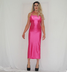 Crossy - From  my next vid (queen.catch) Tags: crossdresser crossy catchqueenyoutube youtuber video heels lycradress pink dragqueen pantyhose crossdressing strikeapose shemale shinylycra