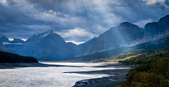 Let There Be Light - Glacier National Park (j-rye) Tags: fall glaciernationalpark ilce7rm2 lakesherburne landscape montana a7rm2 clouds light mirrorless nature shoreline sky tamron2875 trees water lolmg