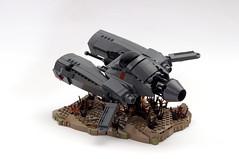 Ma.K - Lego Pkf.85 Falke (Faber Mandragore) Tags: lego moc scifi maschinen krieger mak pkf85 falke aircraft antigravity armored raider hovercraft armor mechanical engine cockpit vehicle speeder interceptor faber mandragore fabermandragore