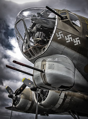 (E. Nelson) Tags: nineonine boeing b17 b17g flyingfortress wwii worldwarii war bomber plane airplane noseart ericnelson exnimages sanantonio texas collingsfoundation wingsoffreedom 2019 stinson airport
