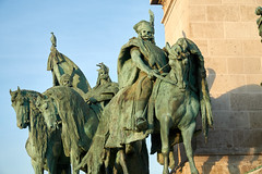 The Seven Chieftains (tim ellis) Tags: holiday budapest geo:lat=4751476889 geo:lon=1907797944 geotagged chieftain magyar statue heroessquare millenniummonument hungary