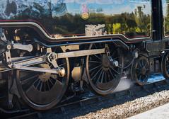 Steel and Steam (fotosforfun2) Tags: railway train engine bluebell bluebellrailway steel steam summer seasons metal green black wheel track steamengine england uk power