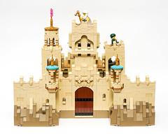 Desert Castle - Back (Galaktek) Tags: galaktek lego architecture castle minifig tan
