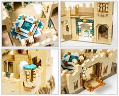 Desert Castle - Details (Galaktek) Tags: galaktek lego architecture castle minifig tan