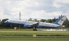 air force one c-32a 09-0015 landing at shannon 6/6/19. (FQ350BB (brian buckley)) Tags: airforceone af1 usaf c32a 090015 einn