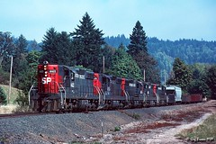 Cadillac Five Pack (C.P. Kirkie) Tags: springbrook oregon sd9 southernpacific sp spbrooklynsubdivision spnewbergbranch freighttrain whitesonflyer trains railroads cadillac sporegondivision newberg willamettevalley