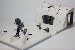 LEGO Star Wars battle on Hoth MOC (The Real Legoman Productions) Tags: lego legomoc legostarwars legostarwarsmoc hoth legohothmoc starwars starwarsmoc starwarslego photo fantasy scifi disney