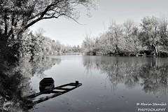 Karlovac, Karlovac County, Croatia - B&w Boats on river Korana (Marin Stanišić Photography) Tags: karlovac croatia bw river korana karlovaccounty boats nikon d5500