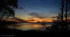 Sunrise October 26 2019 (Arvo Poolar) Tags: outdoors ontario canada scarborough scarboroughbluffs sunrise arvopoolar nikond500 clouds water reflections naturallight nature naturephotography beach