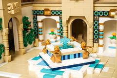 Desert Castle - Fountain (Galaktek) Tags: galaktek lego architecture castle minifig tan