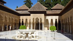 Court and Patio de los Leones (Court of the Lions), Palacios Nazaríes, La Alhambra, Granada, Andalusia, Spain (dannymfoster) Tags: spain andalusia andalucia granada alhambra laalhambra palace palacio palaciosnazaries patio patiodelosleones courtofthelions moorisharchway