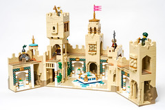 Desert Castle - Interior (Galaktek) Tags: galaktek lego architecture castle minifig tan