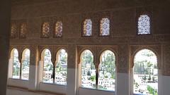 View of Granada Through Moorish Archways of Palacios Nazaríes, La Alhambra, Granada, Andalusia, Spain (dannymfoster) Tags: spain andalusia andalucia granada alhambra laalhambra palace palacio palaciosnazaries moorisharchway