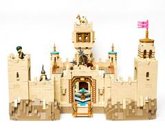 Desert Castle (Galaktek) Tags: galaktek lego architecture castle minifig tan