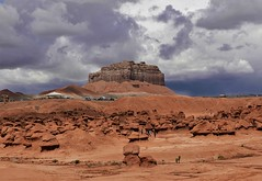PARKING AT GOBLIN VALLEY STATE PARK (Rob Patzke) Tags: goblin park utah lx100 lumix panasonic formation rock brown sand desert landscape