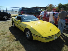 Another Little Yellow Corvette (smaginnis11565) Tags: chevrolet chevroletcorvette mark4corvette sportscoupe sportscar carshow haverstraw newyork rocklandcounty 2019