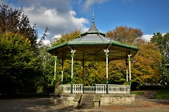 Autumn in Hexham Park. Northumberland. Walk 219 (Glenn Birks) Tags: at top steps i did stand made music with local brass band together we felt proud plyed cornet out crowd thanks dear friends for fondest memories that behold will stay me autumn years grow old